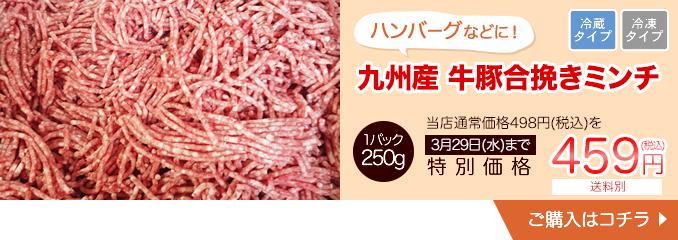 ハンバーグなどに 九州産牛豚合挽きミンチ 250g【10810】
