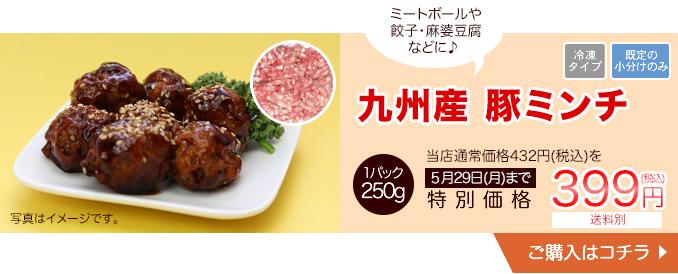 ミートボールや餃子・麻婆豆腐などに九州産豚ミンチ 250g【20010】