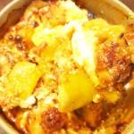 茄子と豚ミンチのチーズ玉子グラタン